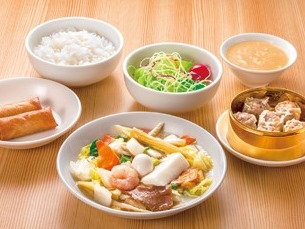 シウマイ定食(八宝菜定食) ライスおかわり自由